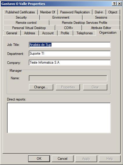 Criar usuários no AD usando Planilha do Excel (4/5)