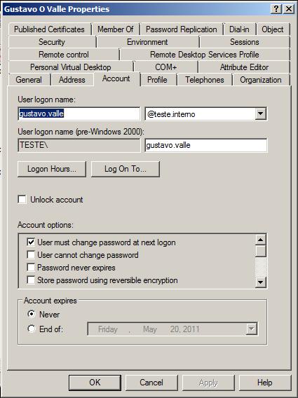 Criar usuários no AD usando Planilha do Excel (5/5)