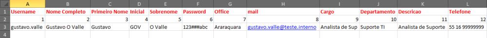 Criar usuários no AD usando Planilha do Excel (1/5)